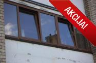Balkono stiklinimas Plastiko konstrukcijomis, Auksinis ąžuolas
